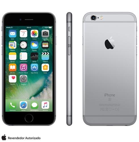 Iphone 6s Cinza Espacial, Com Tela de 4.7 4g, 128 Gb, e Câmera de 12 Mp - Mkqt2br/a - Aemkqt2bracnz Bivolt