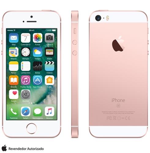 Iphone Se Rosa Dourado, Com Tela de 4, 4g, 16 Gb e Câmera de 12 Mp - Mlxn2bz/a - Aemlxn2bzarsa Bivolt